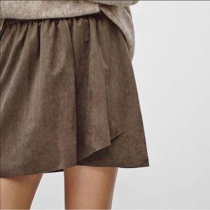 Aritzia suede GREY skirt